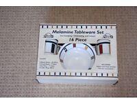 Melamine tableware set for camping/caravan