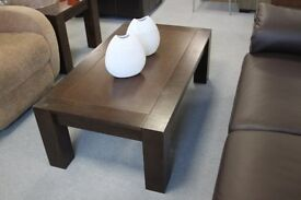 Dark wood stained coffee table
