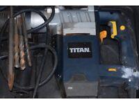 Corded 240 v Titan SDS drill.