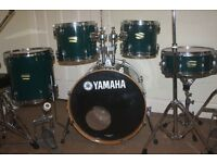 "Yamaha YD Emerald Green 5 Piece Drum Kit (20"" Bass) - DRUMS ONLY"