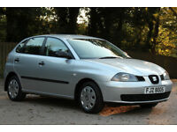 *Beautiful*2003 Seat Ibiza 1.2 5 Door, Met. Silver, 68,000 Miles, 1 Year MOT, Tel.07554 374590