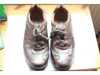 Clarks Brown Mens UN Structured Shoes UK Size 10