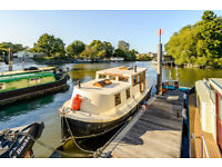 Secure Residential Mooring and One-bed Houseboat in London