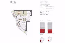 HOT BRAND NEW BUILD 1 Bed Flat in HOOLA EAST 8th Floor, Great Views of O2, Canary Wharf, Royal Docks