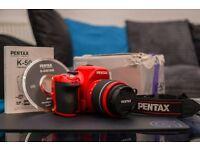 Pentax K-50 Red Edition DSLR 18-55 3.5-5.6 Kit Lens