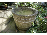 Garden Planter Coopered Barrel Cement Plant Pot 4 available