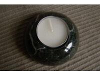 Black Marble Candle Stick Holder (T light holder)