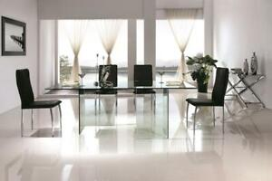 GLASS DINING ROOM TABLE ONLY (CR2416)