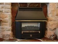 black beauty slimline coal effect gas fire, only ten months old, excellent condition, hardly used ,