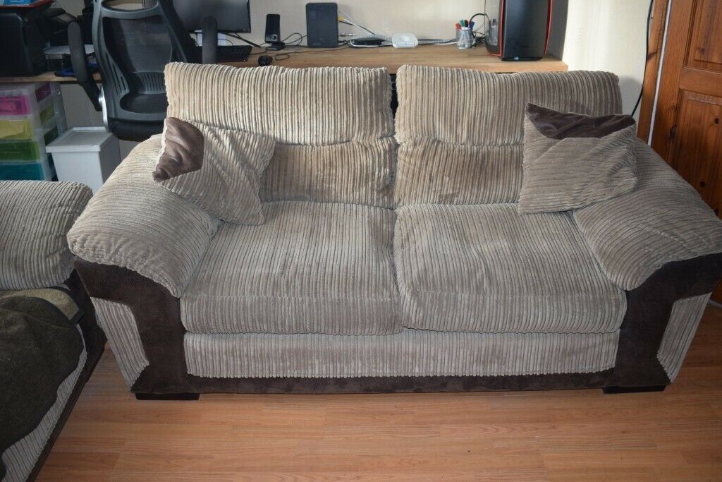 1d36befb04e51 DFS Huxley 3 Seater Sofa, 3 Seater Sofa Bed and Footstool - used in  excellent condition