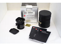Leica M Elmarit 28mm f/2.8 Asph lens 6-bit coded with Leica filter and case, boxed Mint