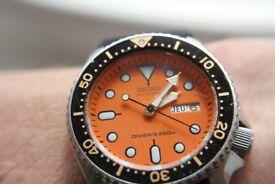Seiko automatic mechanical Scuba Diver's wristwatch -Japan -1997- Orange dial - 7S26-0020