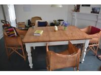 Beautiful and rustic extendable dining table for sale