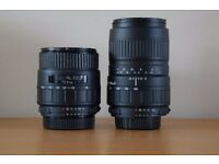 2x lenses, 28-105mm and 100-300mm Sigma full frame, Nikon fit