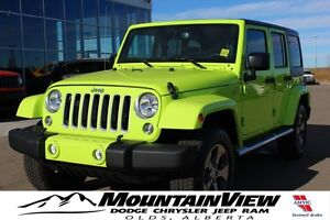 2016 Jeep Wrangler Unlimited Sahara HYPERGREEN!