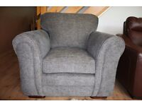 Fabric grey armchair only £80