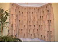 Beautiful handmade Italian chenille curtains, perfect for Victorian bay window