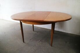 1970's mid century G Plan extendable dining table