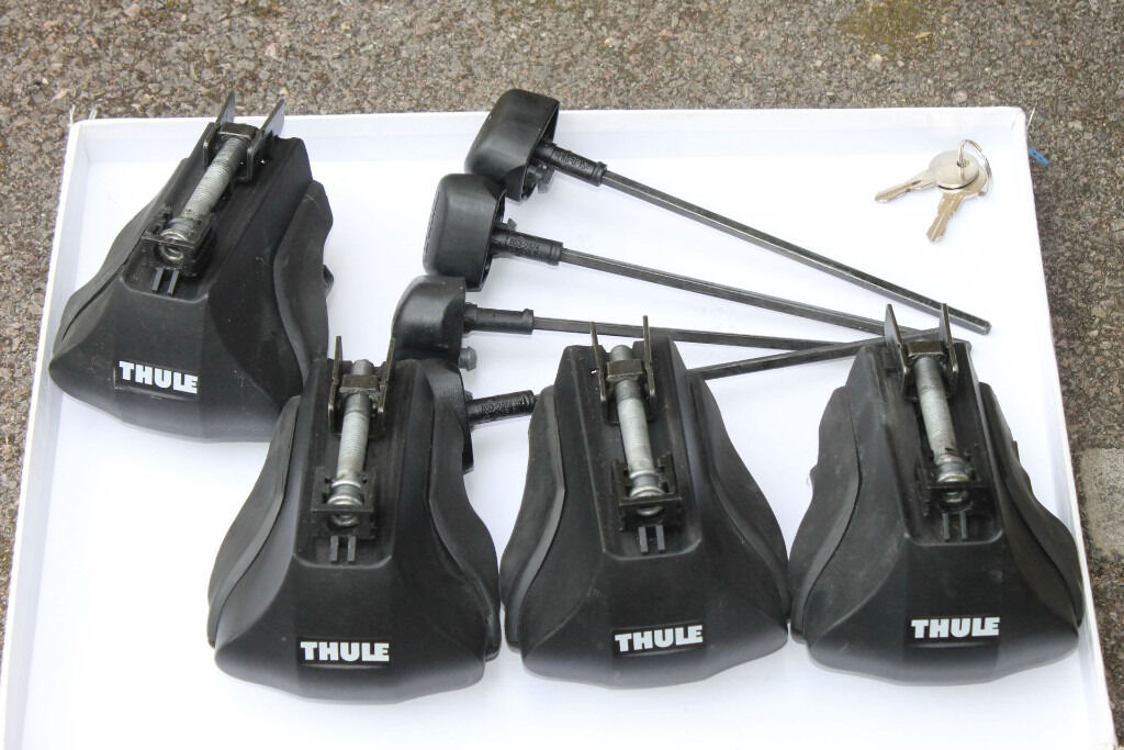 thule foot pack 755 and bars lockable in bath somerset gumtree. Black Bedroom Furniture Sets. Home Design Ideas