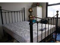 Retro Metal Framed Bed