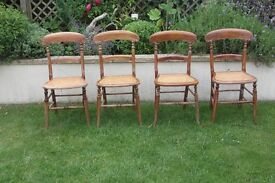 Vintage set of 4 wooden chairs