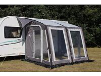 Suncamp air ultimo 280 porch awning and bedroom annex