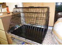 """Dog cage 30"""" sloping front, ideal for hatchback car."""