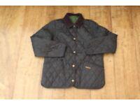 Barbour Girls Large 10/11Yrs Olive/Dark Green Quilted Jacket (Genuine)