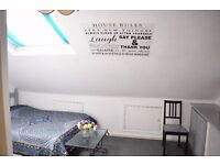 Double room in 2 bedroom flat. Shared with only one person.