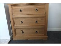 3 Drawer Solid Wood Chest