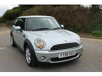 FROM £30 PER WEEK MINI ONE 1.4 PETROL MANUAL SILVER LOW MILES FSH GREAT ECONOMY CHEAP TO INSURE