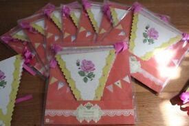 Bunting - Wedding Decoration - Vintage Party Decor - 10 packs Brand New unused