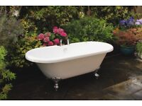 Roll Top Bath with ball feet white ( 1700mm) unused & very good condition