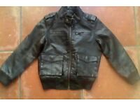 Next leather brown jacket
