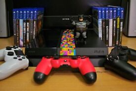 PS4 with 3 Controllers and a selection of games