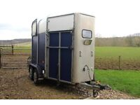 Ifor Williams HB505 double horse trailer.