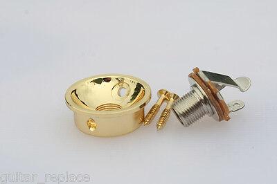 Jack Plate Socket Dorado Gold Telecaster Cazoleta Guitarra Eléctrica Tele