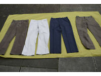 Joblot of Four (4) Pairs of Mens Trousers