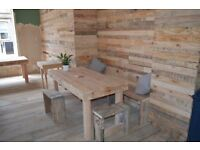 BESPOKE AND RUSTIC UPCYCLED PALLET SERVICES - FURNITURE / DESIGN / SHOPFITTINGS