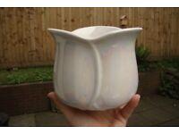 Glazed - Mother of Pearl effect Porcelain Planter
