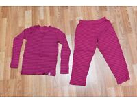 Trespass Kids Childs base layer top and bottom Aged 10 excellent condition