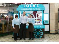 (CANNON ST) LOLAS CUPCAKES - RETAIL TEAM/SUPERVISORS/FULL/PART TIME - EXCELLENT TRAINING