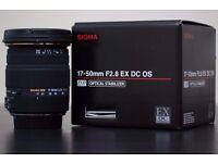 Sigma 17-50 f2.8 OS Canon New Condition