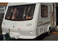ELDDIS AVANTE 362 / 2 BERTH CARAVAN 2001 WITH REMOTE MOTOR MOVER AND FULL SIZE ISABELLA AWNING