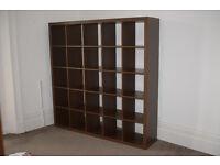 Shelving Unit, Ikea Storage, 25 individual shelves, Dark Brown Veneer, V.G.C.