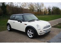 2003 Mini Cooper 1.6 Petrol White Panoramic Roof AC Alloys CLEAN , WARRANTY, PART EXCHANGE WELCOME