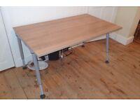 Herman Miller Ergonomic Desk 140x80cm - Manual Adjustable Height 61-84cm - Tool-less Assembly