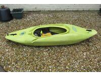 Riot 007 Whitewater Kayak and Workblade Paddle