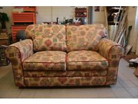 Sofa Bed, as new, little used in print fabric