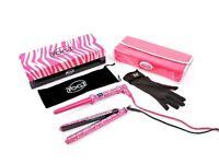 Straightner & Wand Yogi gift set-twin pack in pink zebra pattern-RRP £129.95-BRAND NEW, BOXED, GIFT